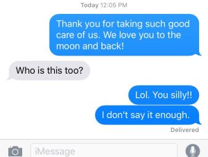I sent my husband a loving text and he thought it was meant for someone else!